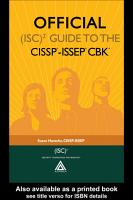 Official  ISC 2   Guide to the CISSP   ISSEP   CBK   PDF