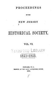 New Jersey History: Volumes 6-10