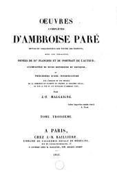 Oeuvres complètes d'Ambroise Paré: Volume3