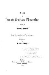 Vita di Donato, scultore fiorentino ...