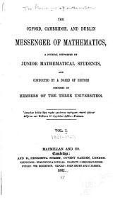 The Messenger of Mathematics: Volume 1
