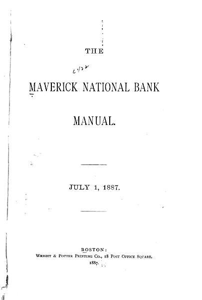 The Maverick National Bank Manual PDF