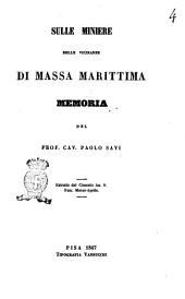 Sulle miniere delle vicinanze di Massa Marittima memoria del prof. cav. Paolo Savi