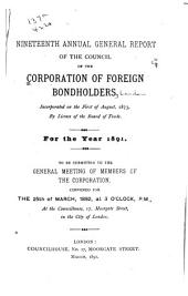 Report of the Council of the Corporation of Foreign Bondholders: Volume 19