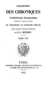 Chroniques de Froissart: Volume8