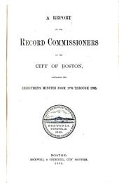 Report of the Record Commissioners of the City of Boston: Volume 25