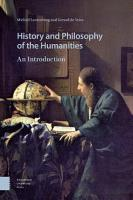 History and Philosophy of the Humanities PDF