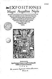 Expositiones magni Augustini Niphi Medicis,... in libros de sophisticis elenchis Aristotelis