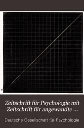 Zeitschrift für Psychologie und Physiologie der Sinnesorgane: Band 12
