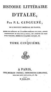 Histoire littéraire d'Italie: Volume5