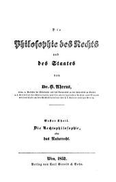 Die Rechtsphilosophie oder das Naturrecht auf philosophisch-anthropologischer Grundlage