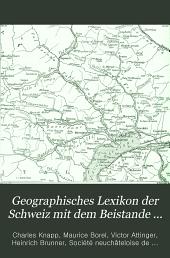 Geographisches Lexikon der Schweiz: Band 3