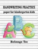 Kindergarten Hand Writing Practice Paper for ABC Kids