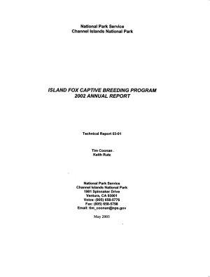 Island Fox Captive Breeding Program     Annual Report PDF