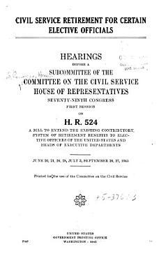 Civil Service Retirement for Certain Elective Officials PDF