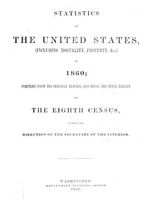 Statistics of the United States   including Mortality  Property    C    in 1860