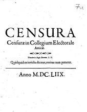 Censura Censurae in Collegium Electorale Amicae
