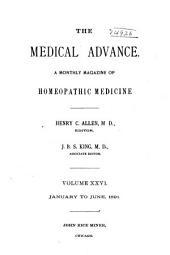 The Medical Advance: Volume 26