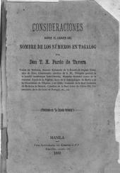 Consideraciones sobre el origin del nombre de los números en Tagalog
