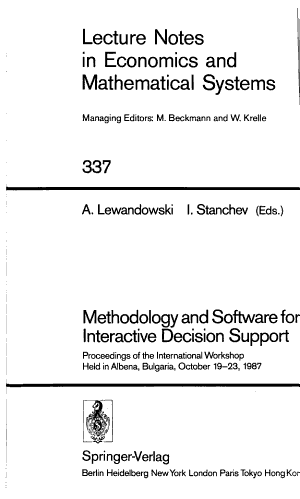 Methodology and Software for Interactive Decision Support