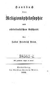 Handbuch der Religionsphilosophie und philosophischen Aesthetik