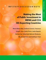 Making the Most of Public Investment in MENA and CCA Oil Exporting Countries PDF