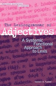 The Lexicogrammar of Adjectives PDF