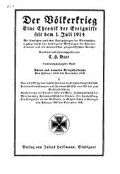 Der Völkerkrieg: eine Chronik der Ereignisse seit dem 1. Juli 1914, Band 26