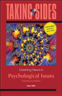 Taking Sides  Clashing Views on Psychological Issues  Expanded PDF