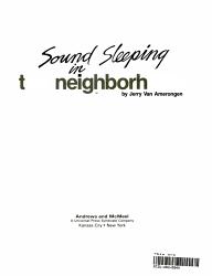 Sound Sleeping in the Neighborhood PDF