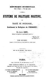 Système de politique positive: Statique sociale