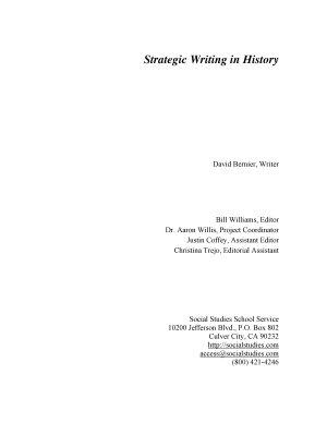 Strategic Writing in History PDF