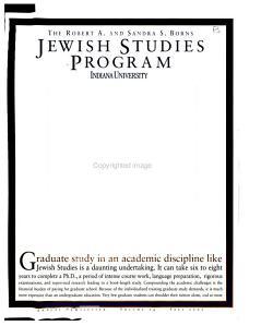 Jewish Studies Program PDF