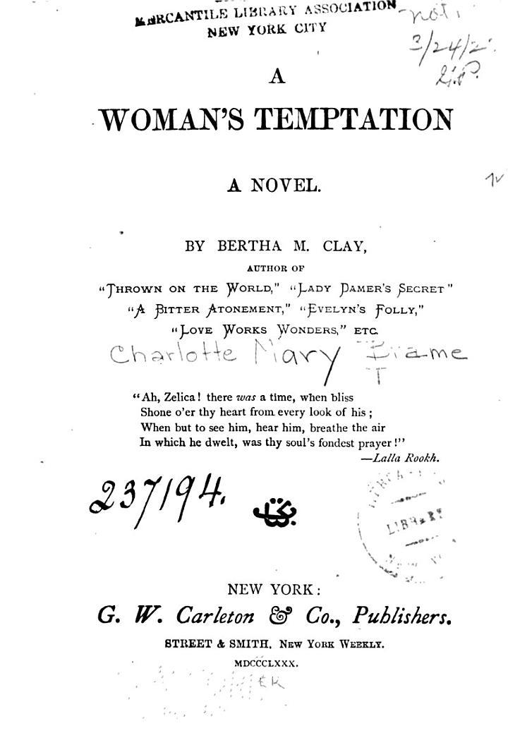 A Woman's Temptation