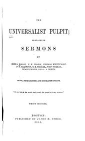 The Universalist pulpit: containing sermons