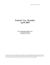 Natural Gas Monthly: April 2003