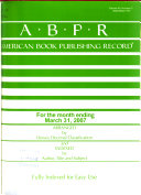 Download American Book Publishing Record Book