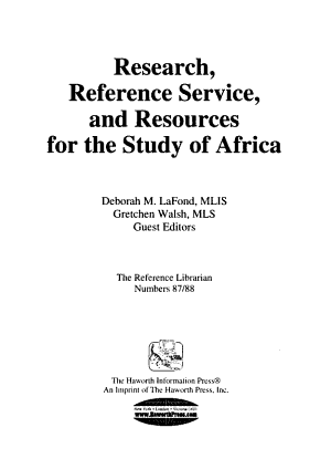 The Reference librarian PDF