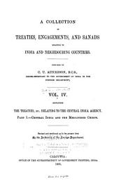 A Collection of Treaties, Engagements, and Sanads Relating to India and Neighbouring Countries: Volume 4