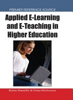 Applied E Learning and E Teaching in Higher Education PDF