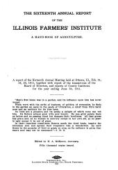 Annual Report of the Illinois Farmers' Institute: Volume 16