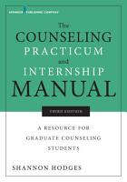 The Counseling Practicum and Internship Manual  Third Edition PDF