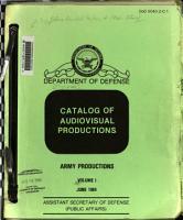 Catalog of audiovisual productions PDF