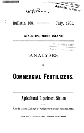 Analyses of commercial fertilizers
