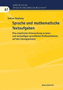 Sprache und mathematische Textaufgaben PDF