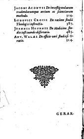 Ger. Joan. Vossii et aliorum, De studiorum ratione opuscula