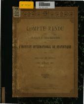 Compte rendu des travaux et délibérations de l'Institut international de statistique: Session de Berne, 1895, du 26 au 31 aout