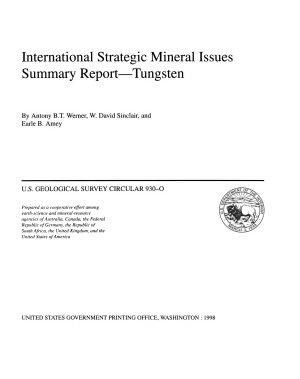 International Strategic Mineral Issues Summary Report  tungsten PDF