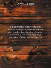 Bibliography of meteorology