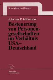 Besteuerung von Personengesellschaften im Verhältnis USA — Deutschland
